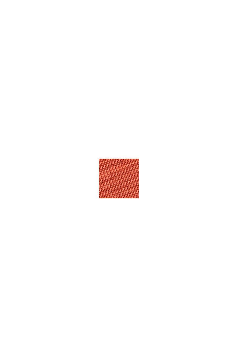 Cotone biologico/TENCEL™: t-shirt con stampa, TERRACOTTA, swatch