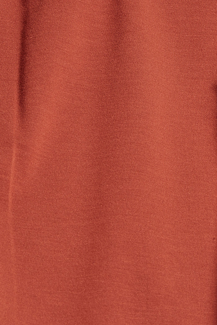 Spaghetti-Top aus LENZING™ ECOVERO™, TERRACOTTA, detail image number 4