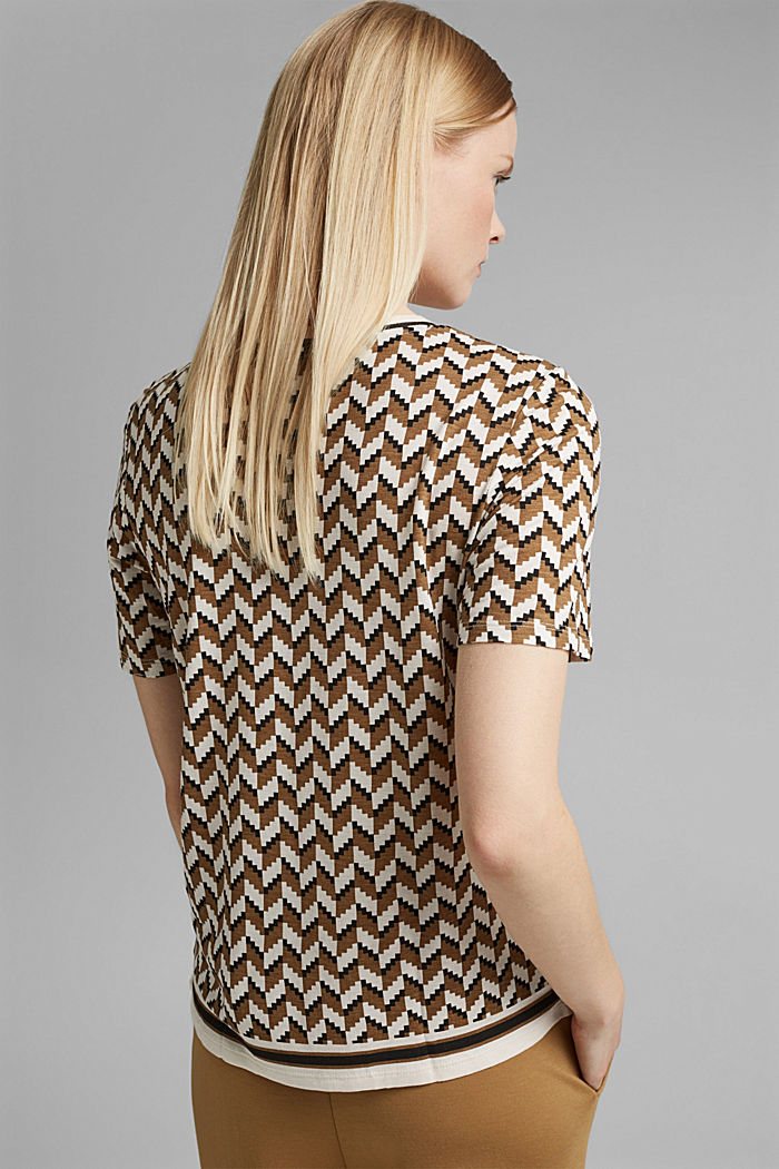 T-Shirt mit Print aus LENZING™ ECOVERO™, BLACK, detail image number 3