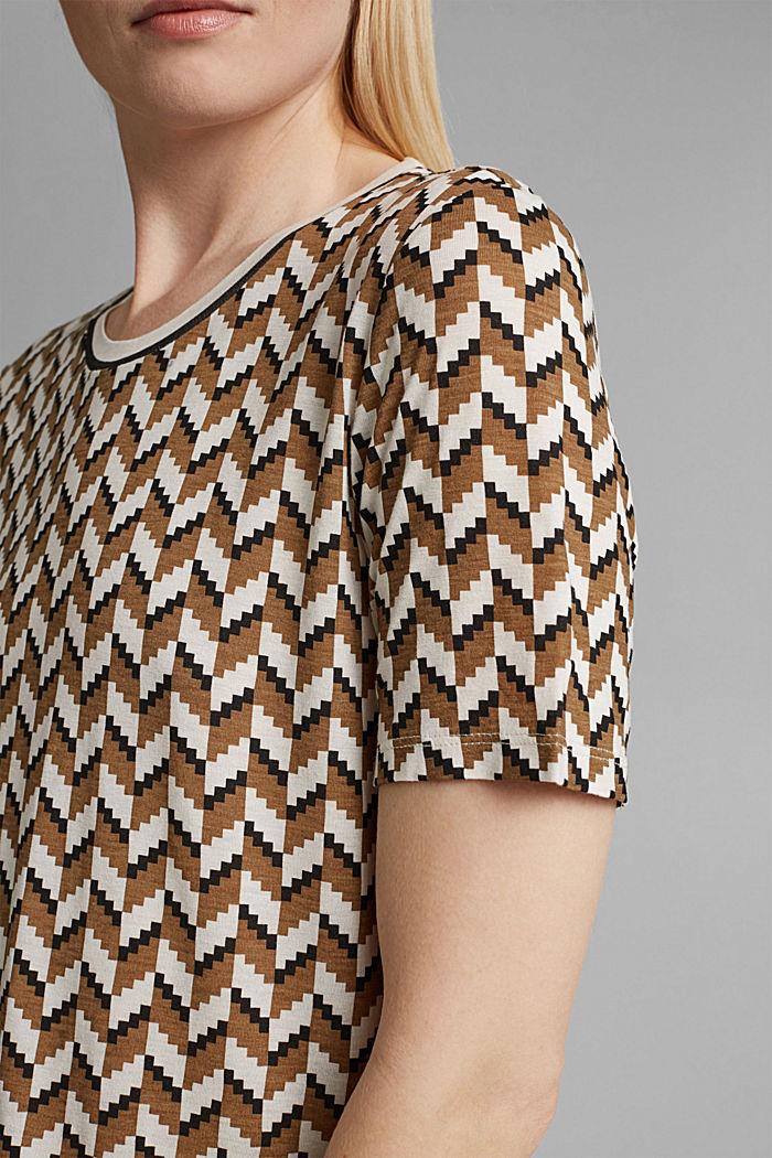 T-Shirt mit Print aus LENZING™ ECOVERO™, BLACK, detail image number 2