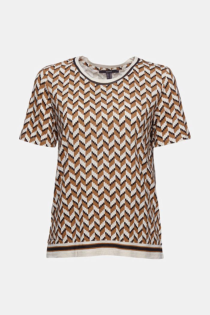 T-Shirt mit Print aus LENZING™ ECOVERO™, BLACK, detail image number 6