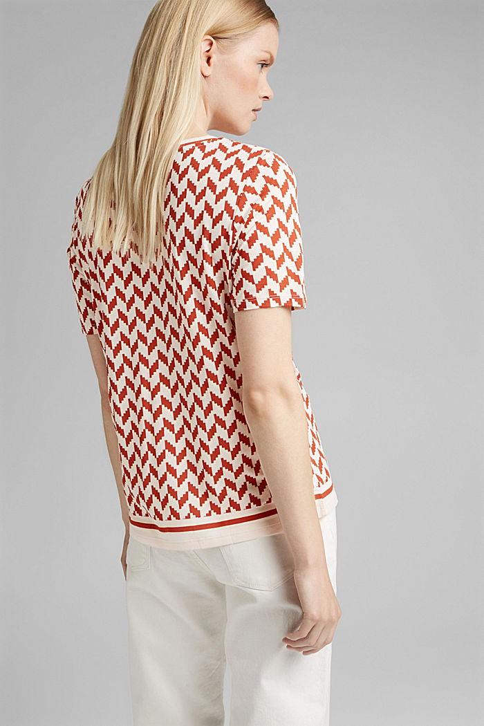 Printed T-shirt made of LENZING™ ECOVERO™, TERRACOTTA, detail image number 3