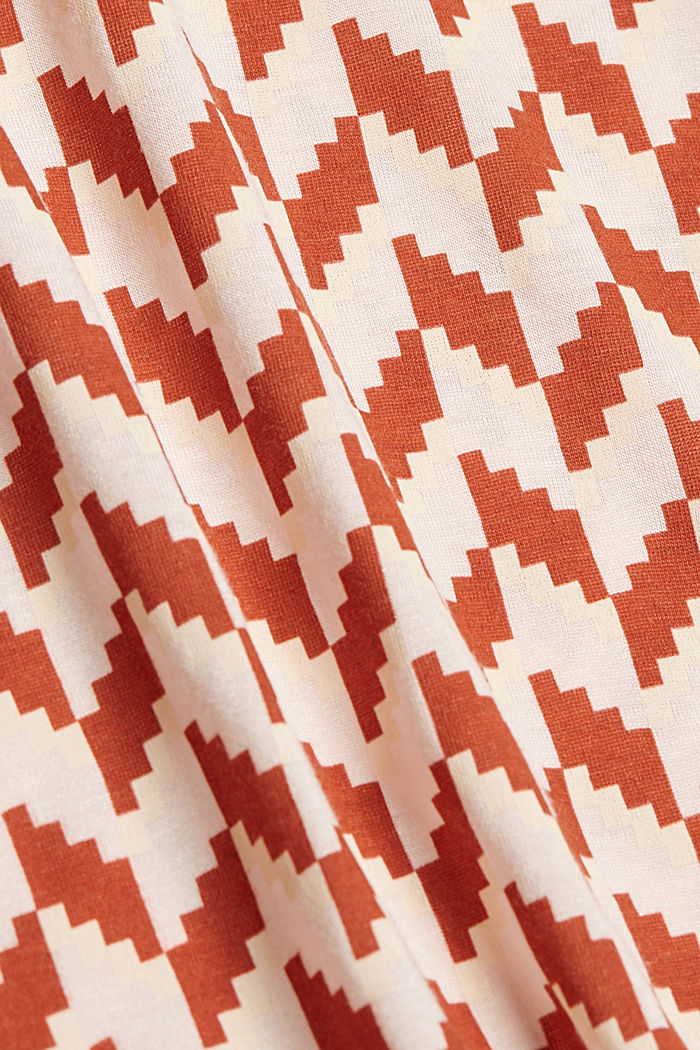 Printed T-shirt made of LENZING™ ECOVERO™, TERRACOTTA, detail image number 4