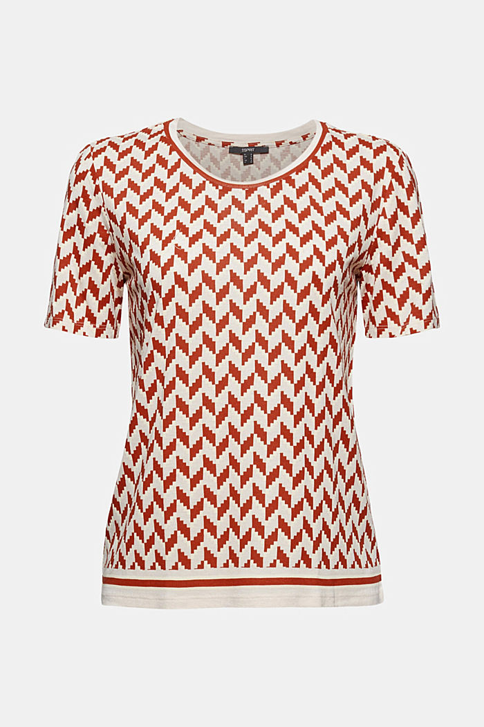 Printed T-shirt made of LENZING™ ECOVERO™, TERRACOTTA, detail image number 6