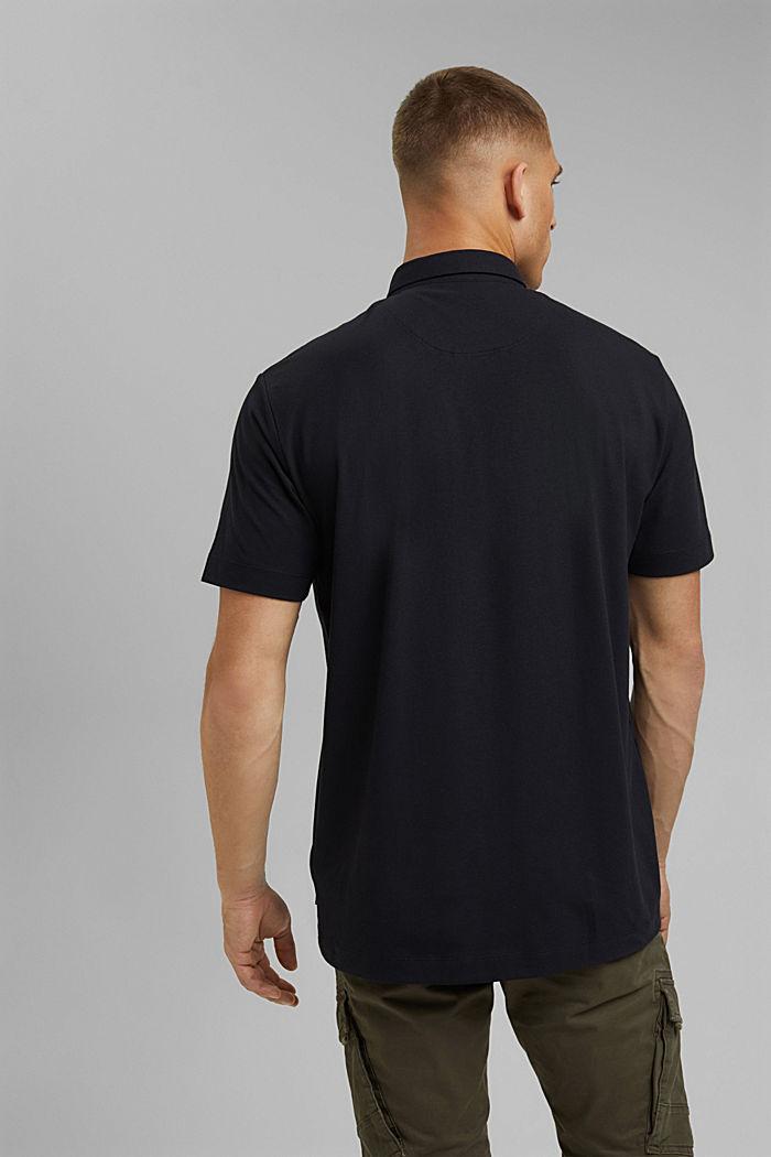 Jersey-Poloshirt mit COOLMAX®, BLACK, detail image number 3