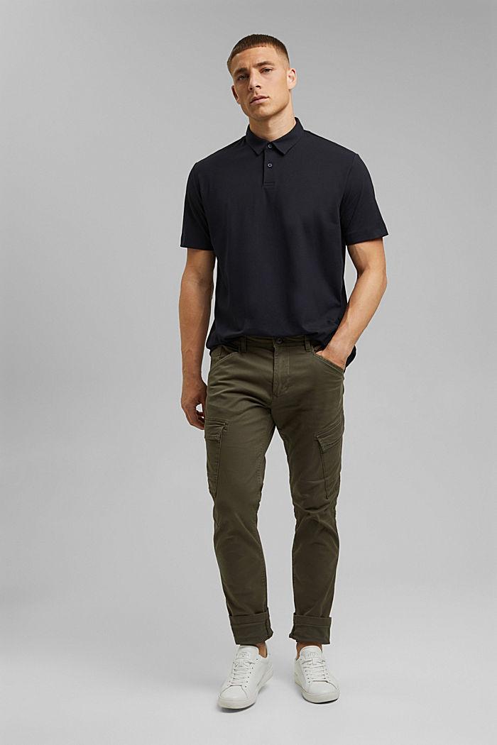 Jersey-Poloshirt mit COOLMAX®, BLACK, detail image number 2