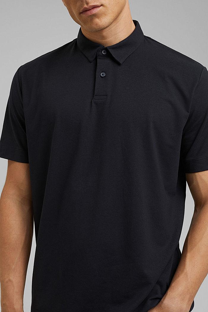 Jersey-Poloshirt mit COOLMAX®, BLACK, detail image number 1