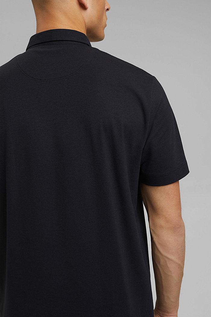 Jersey-Poloshirt mit COOLMAX®, BLACK, detail image number 5