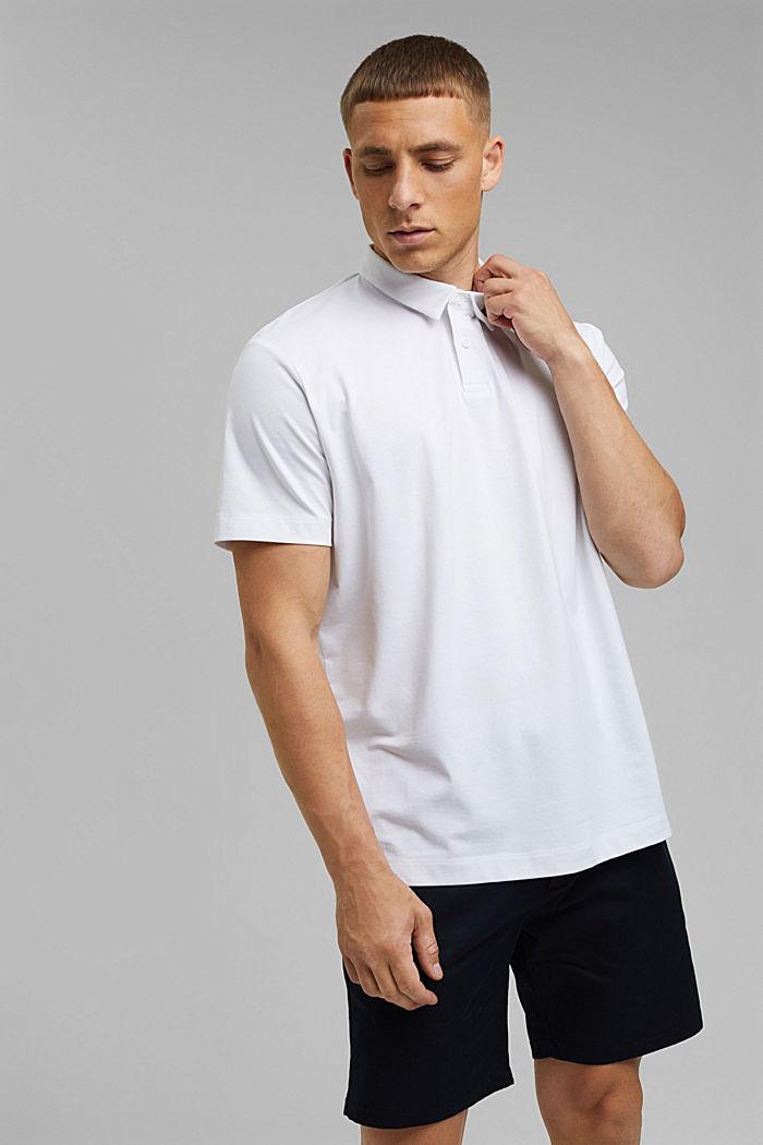 Jersey-Poloshirt mit COOLMAX®