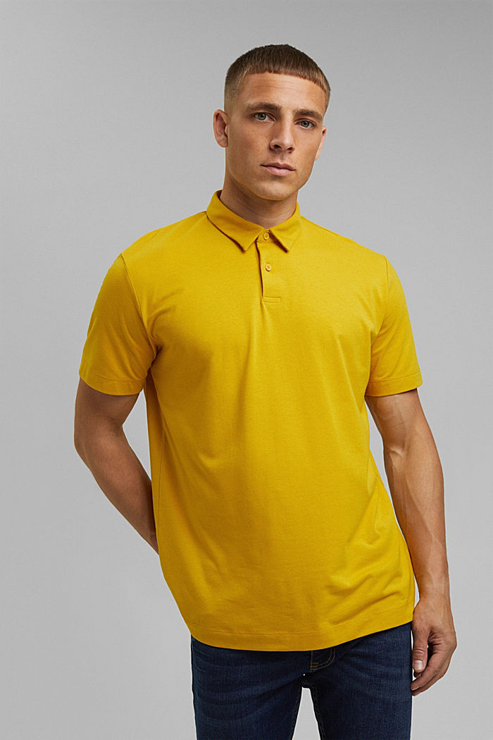 Jersey polo shirt with COOLMAX®, YELLOW, detail image number 0