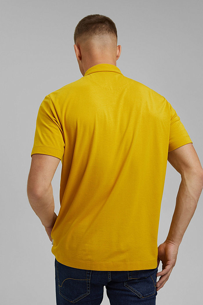Jersey polo shirt with COOLMAX®, YELLOW, detail image number 3