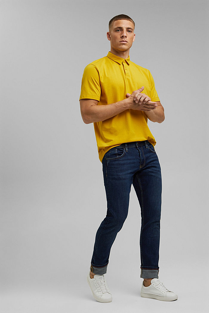Jersey polo shirt with COOLMAX®, YELLOW, detail image number 2