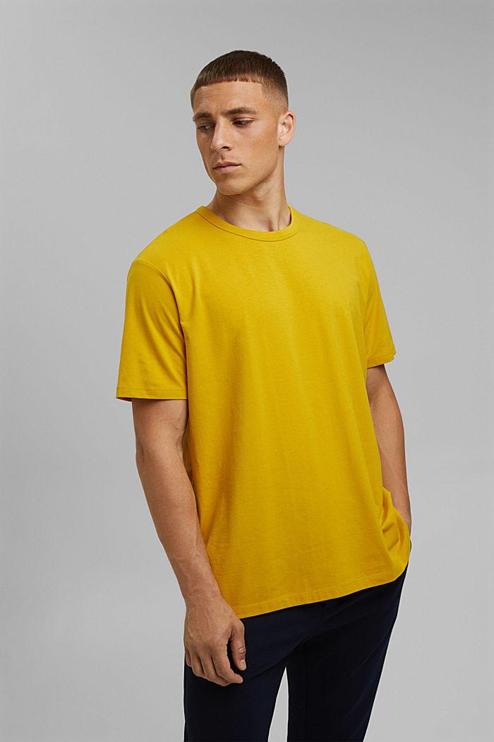 Jersey-T-Shirt mit COOLMAX®, YELLOW, detail image number 0