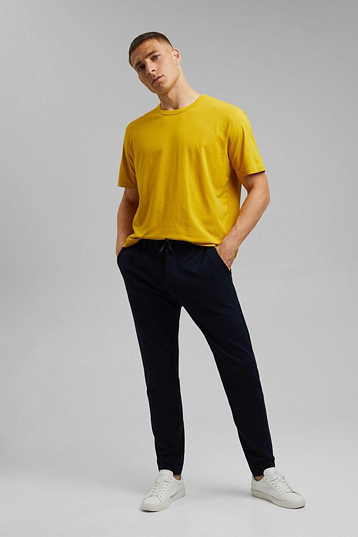 Jersey-T-Shirt mit COOLMAX®, YELLOW, detail image number 2