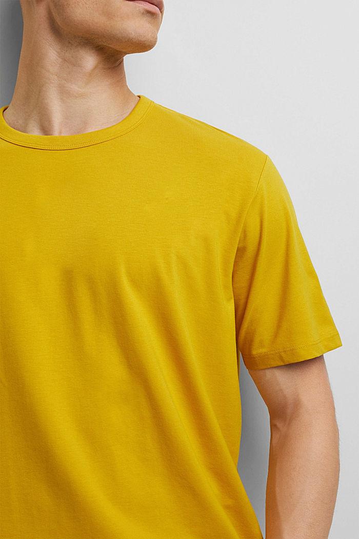 Jersey-T-Shirt mit COOLMAX®, YELLOW, detail image number 1