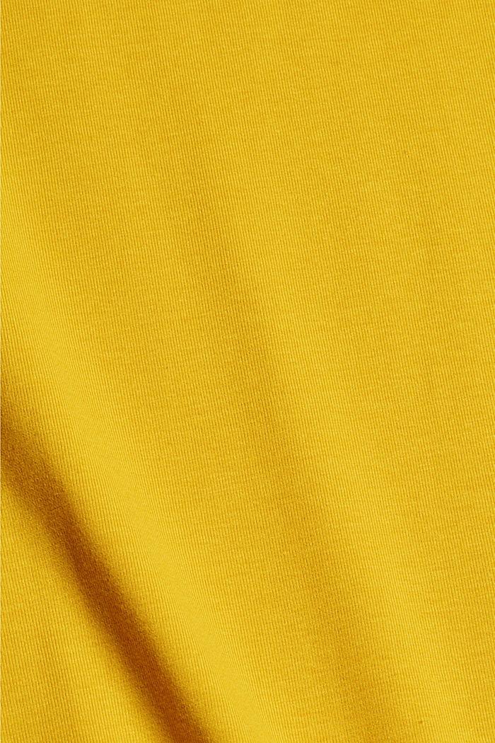 Jersey-T-Shirt mit COOLMAX®, YELLOW, detail image number 4