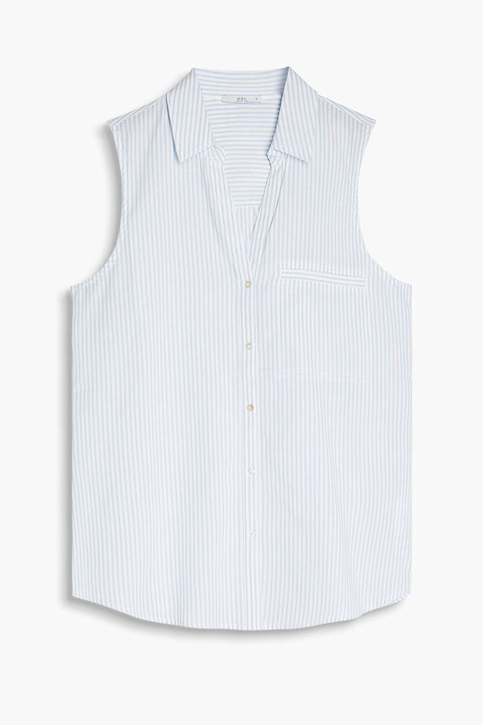 Sleeveless cotton blouse with a fresh, gingham check pattern