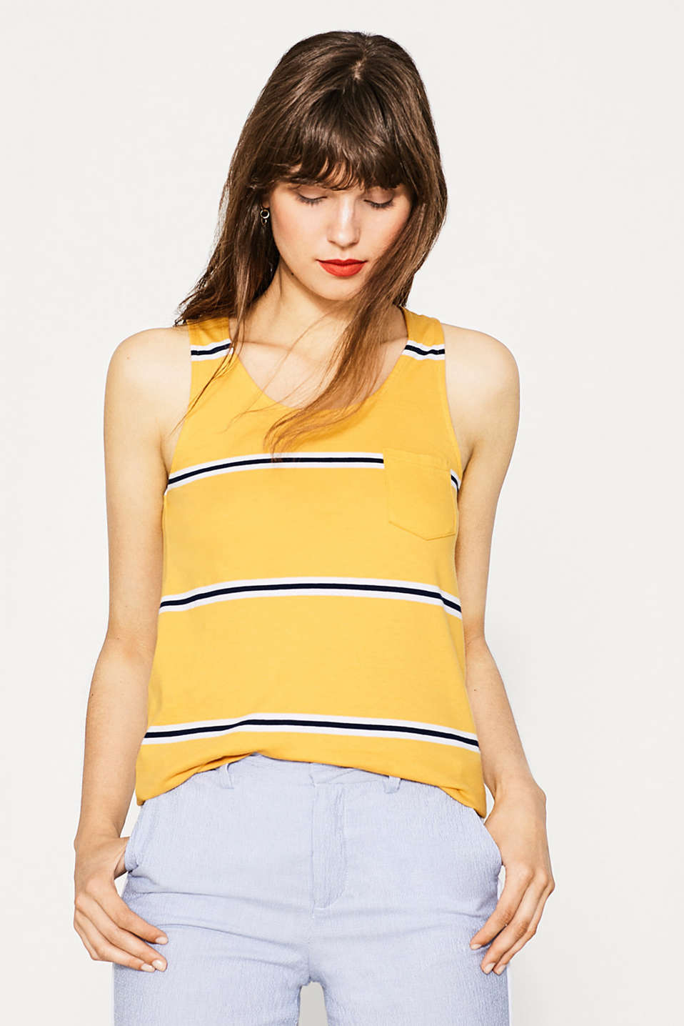 Tank-Top mit Cut-Out, Baumwolle
