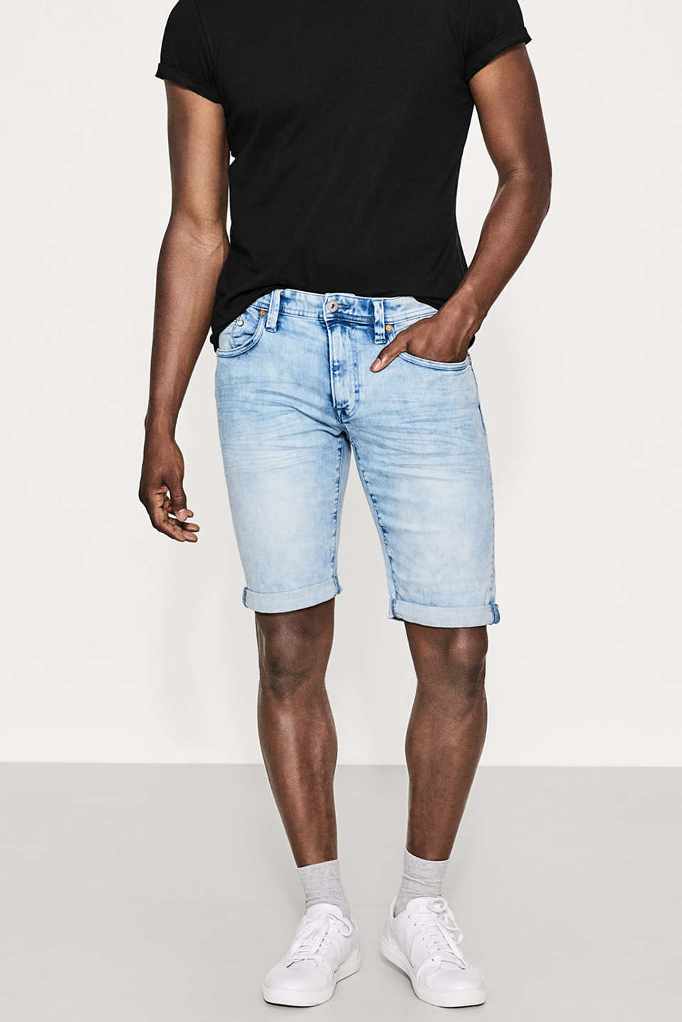 edc - Stretch denim Bermudas