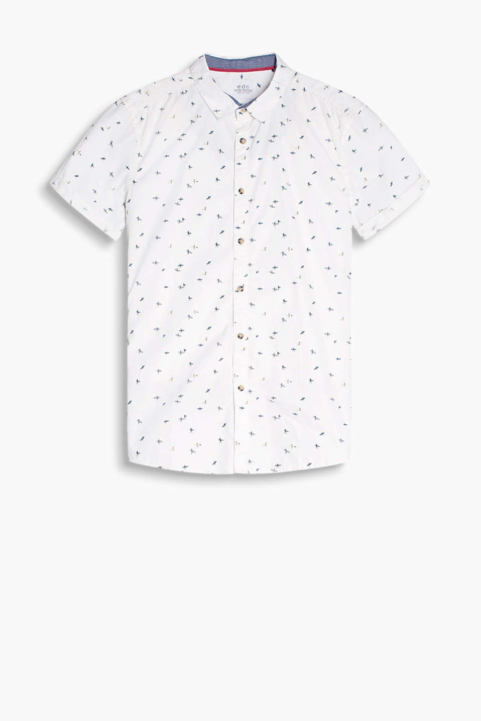 100% cotton: short sleeve shirt with a minimalist print