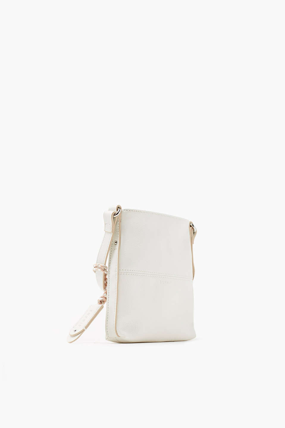 Small, smooth faux leather shoulder bag