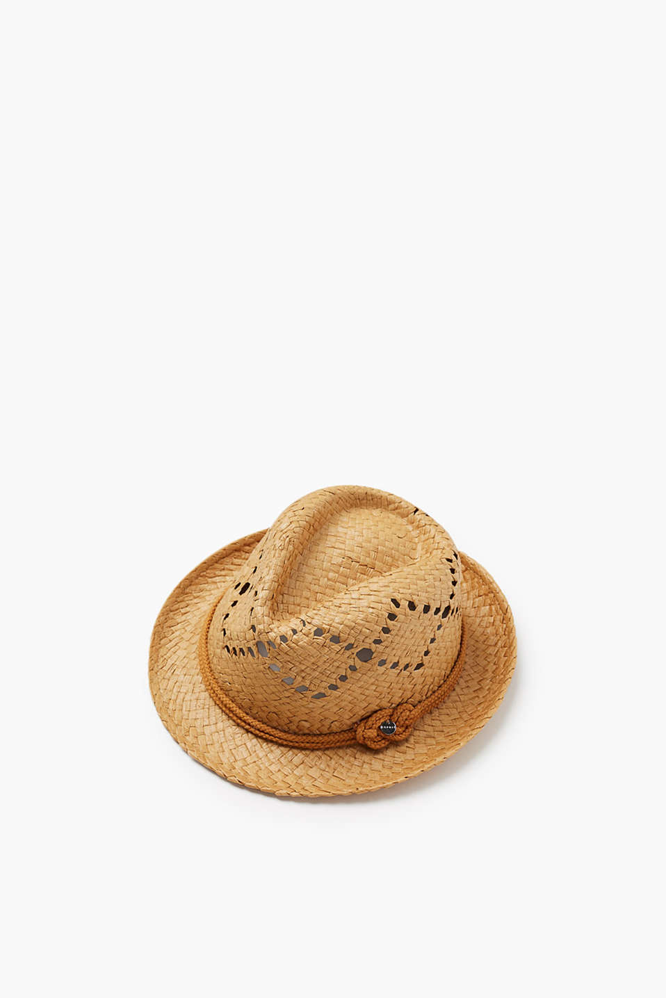 Trilby hat in a summery look with a tone-in-tone braided band