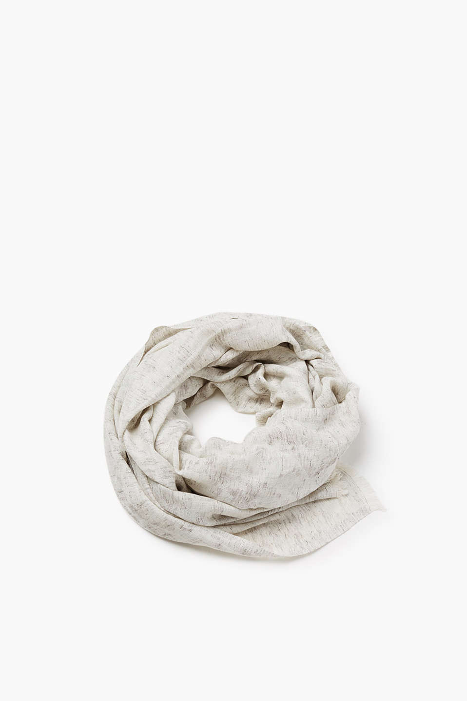 Esprit - Floaty scarf in jacquard fabric