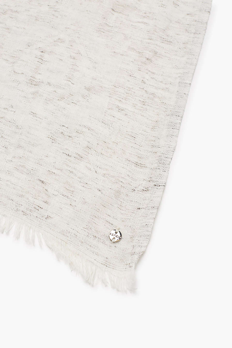 Floaty scarf in jacquard fabric