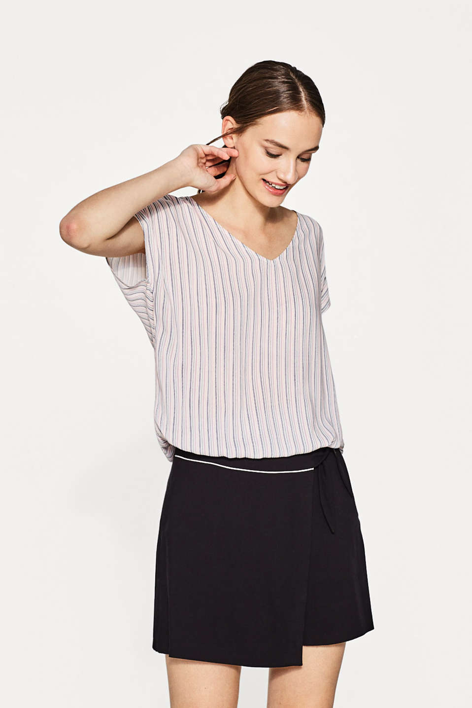 Esprit - Striped softly flowing blouse top