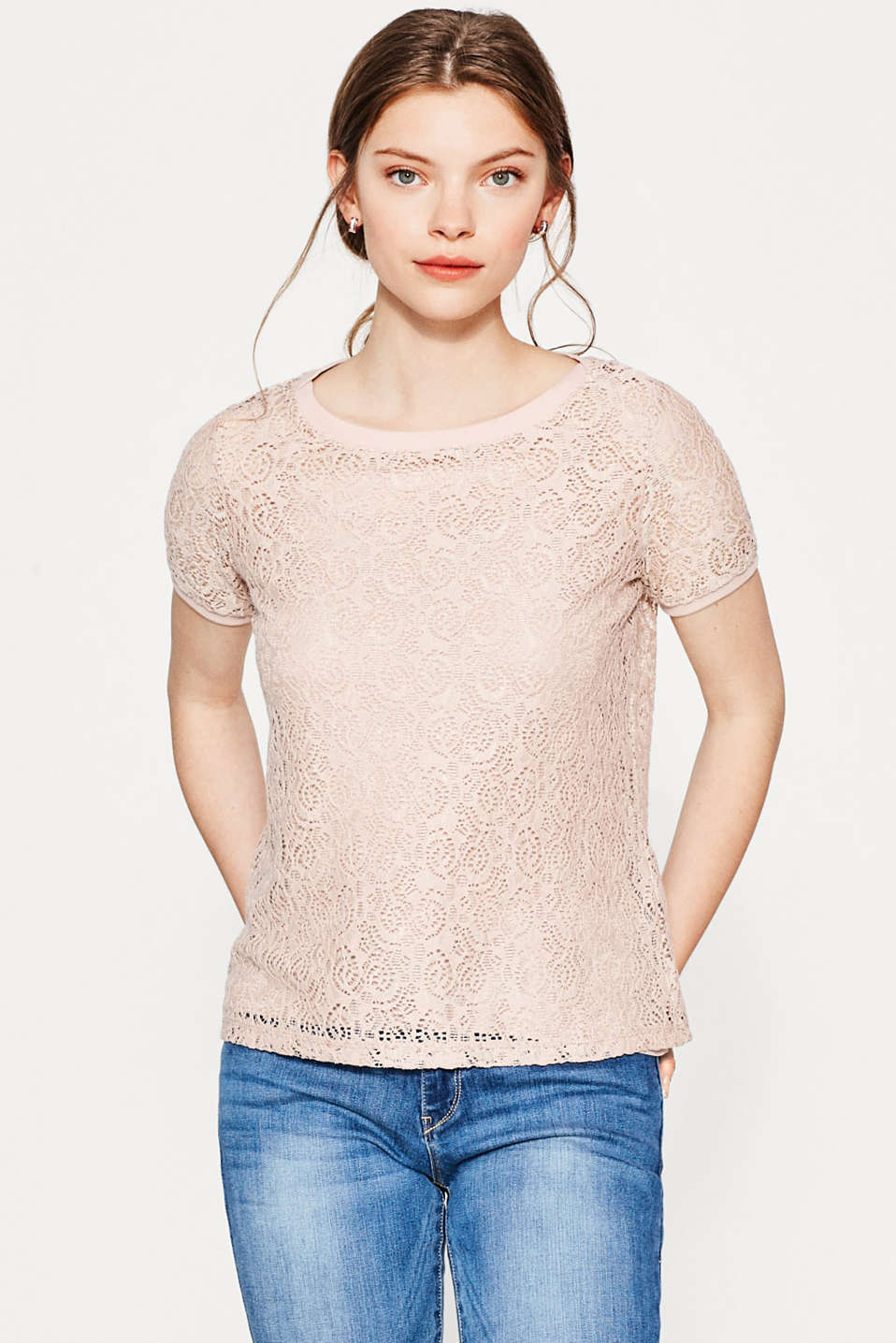 Esprit - Two-in-one top in delicate lace