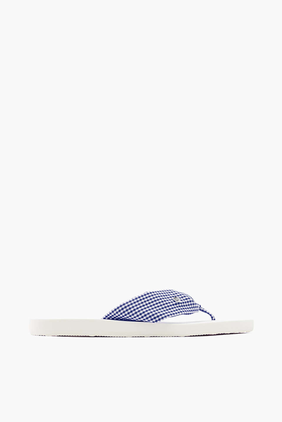 With a rubber sole: slip slops with woven cotton straps