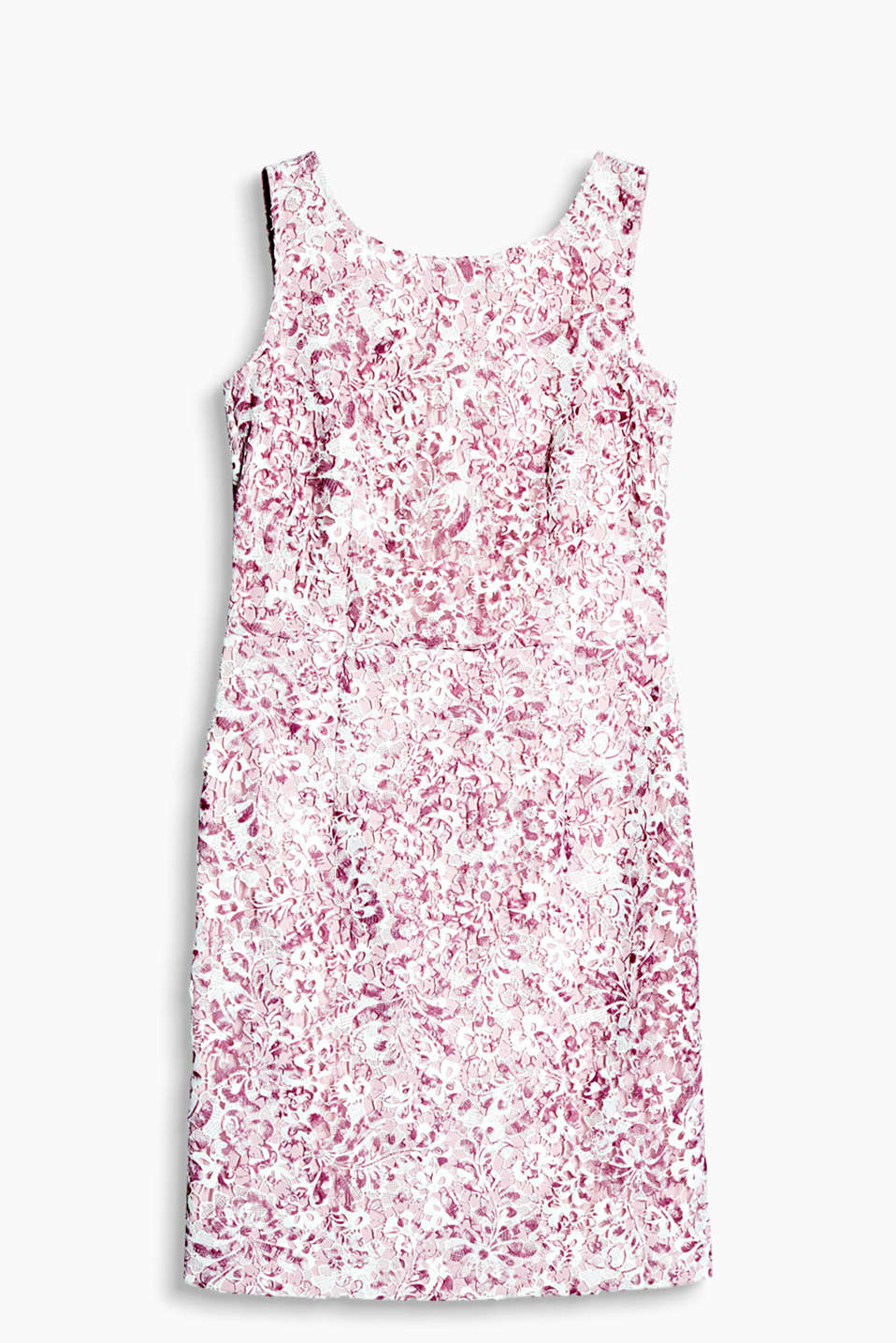 Floral dress with tone-in-tone, integrated lining, in a formal look