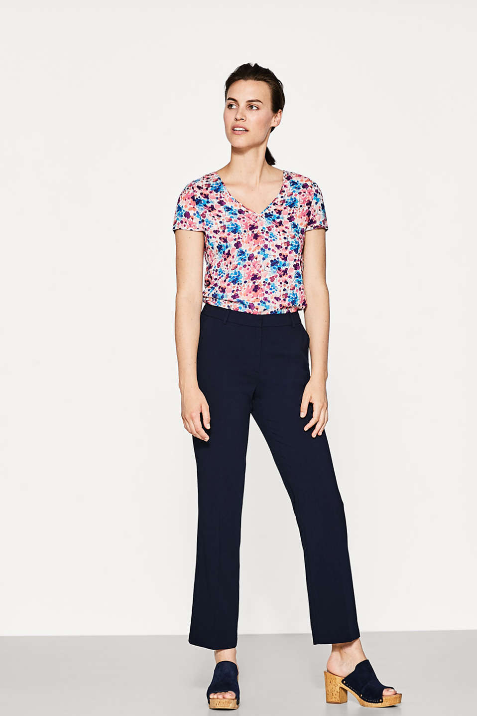 Delicate blouse with a double V-neckline
