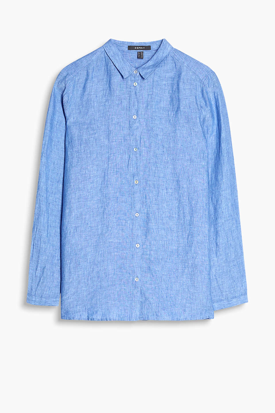 Casual shirt blouse in cool linen