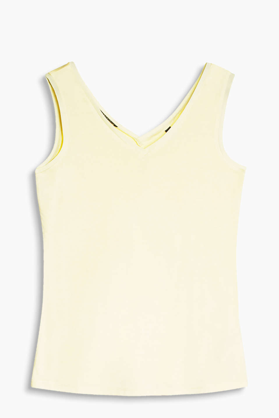 Esprit - Fließendes Jersey-Top mit Double-V-Neck