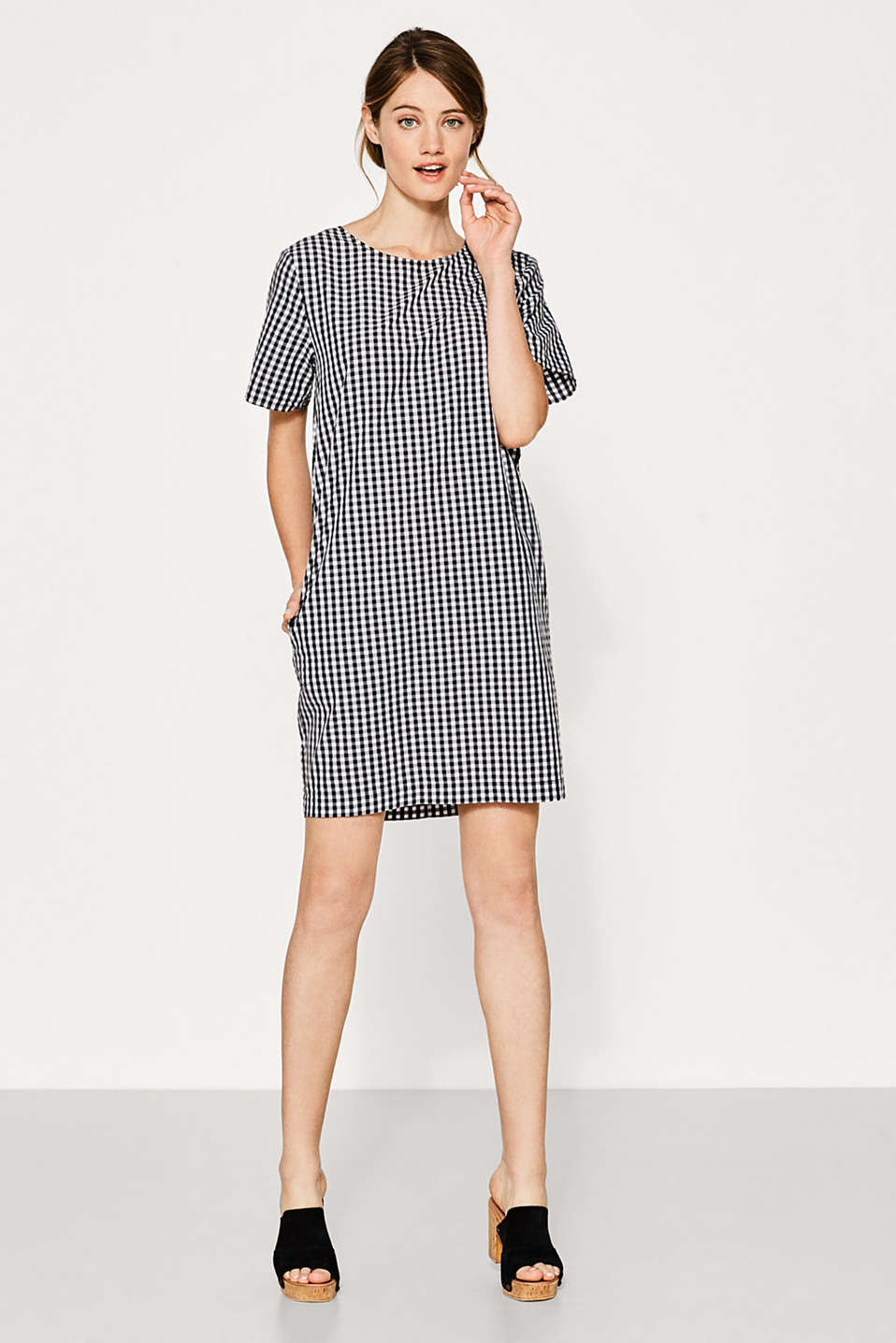Gingham check dress in 100% cotton
