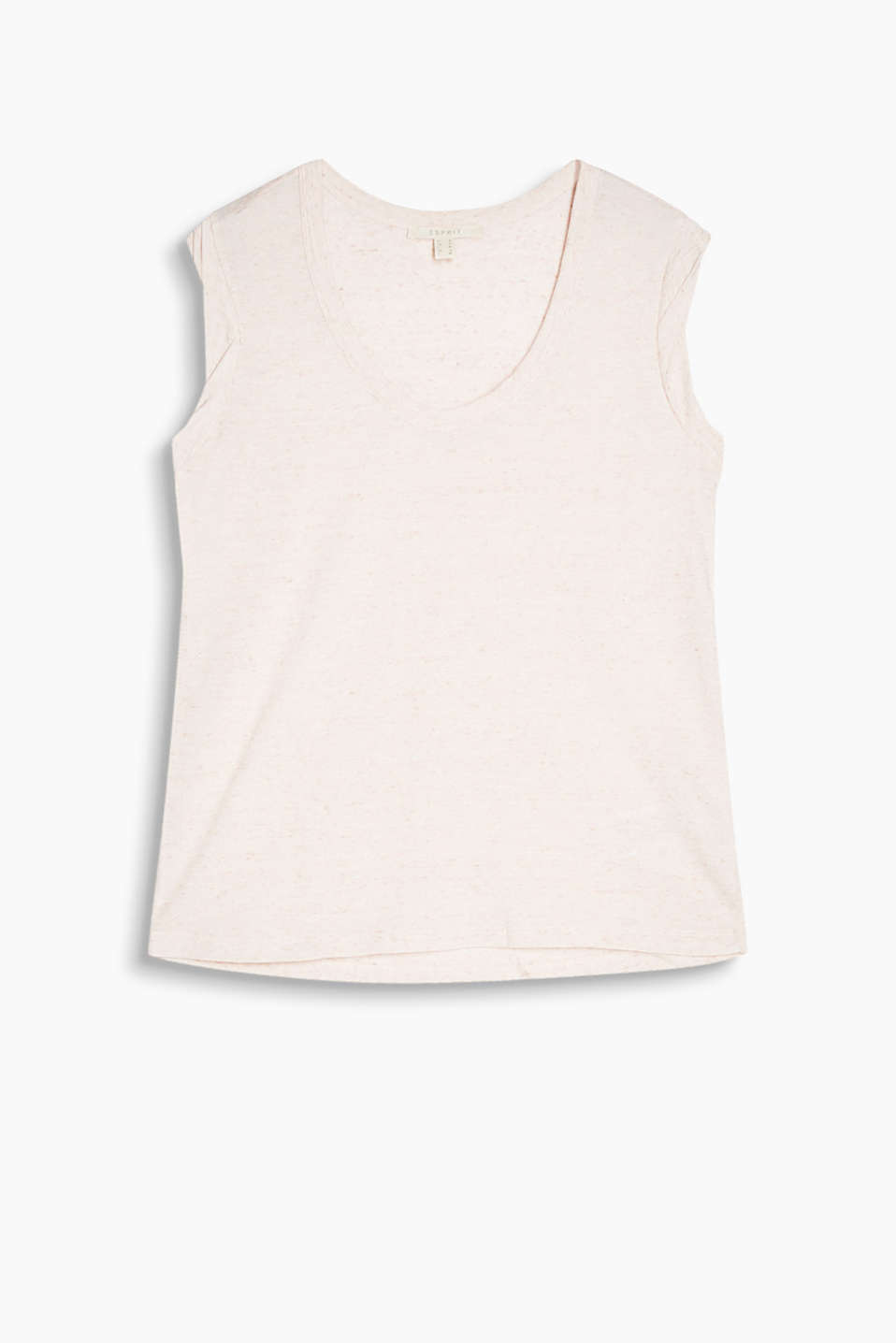 Supersoft V-neck T-shirt with a fine dimple texture