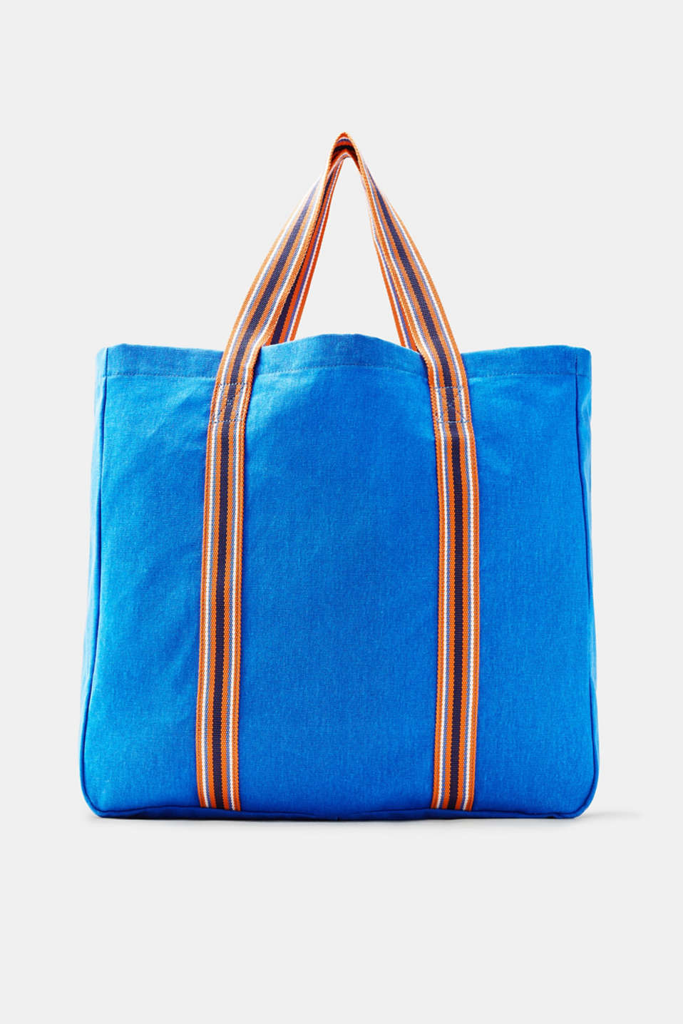 edc - Shopper in canvas con tracolla a righe