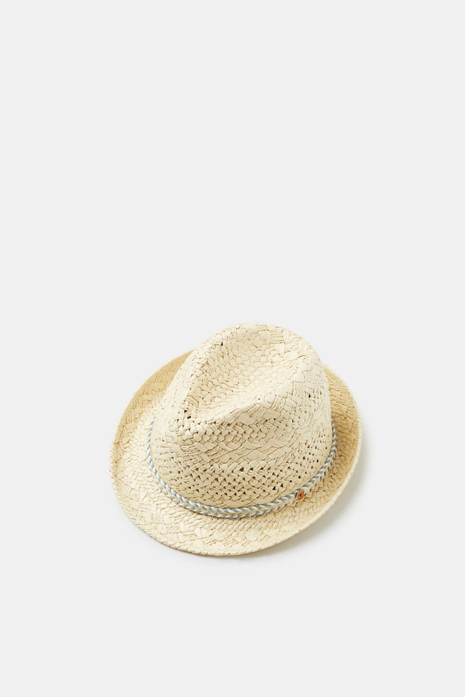 edc - Straw trilby with a braided hat band