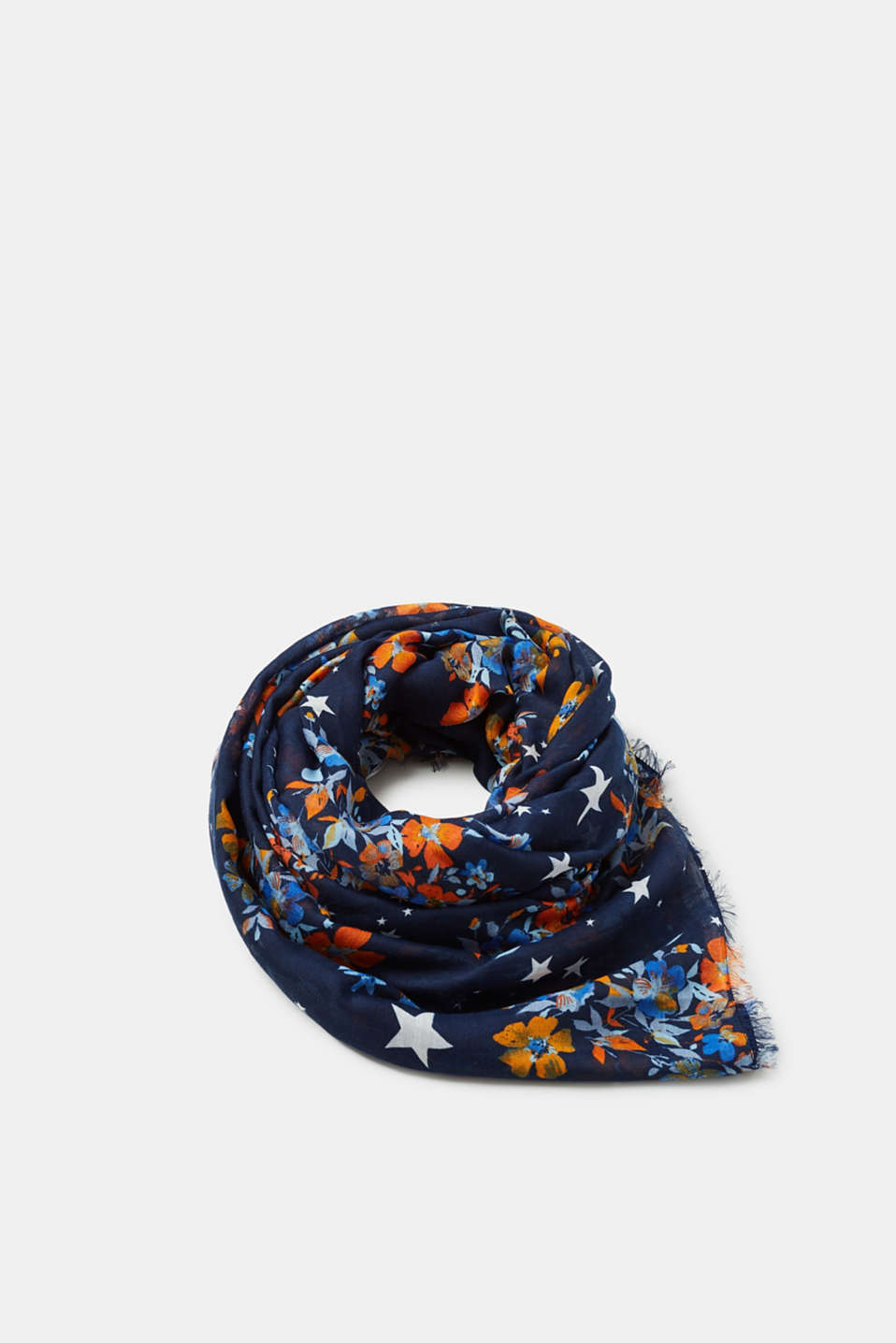 edc - Scarf with star and floral print