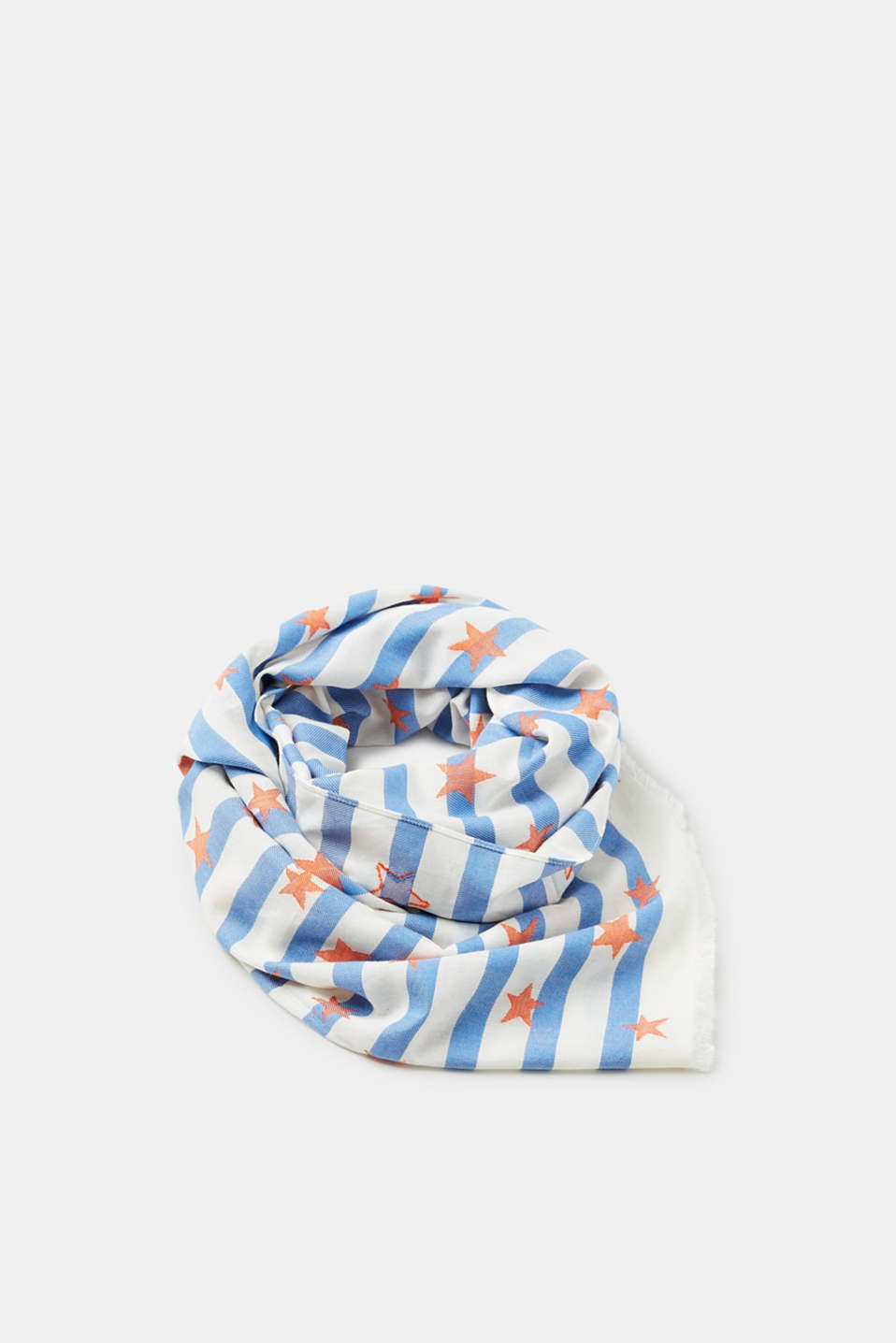 edc - Striped scarf with interwoven stars
