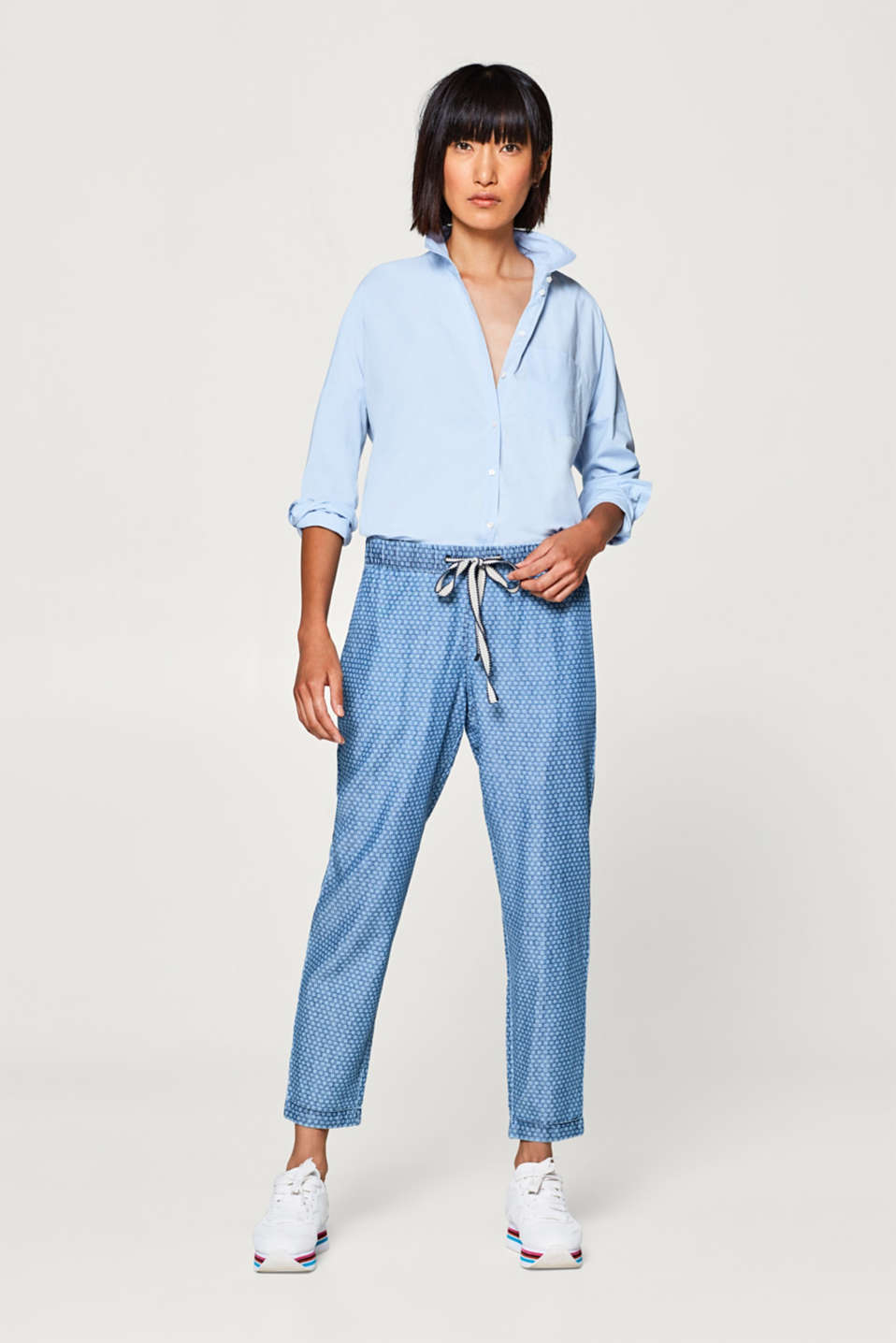 edc - Tracksuit bottoms in a lightweight denim look