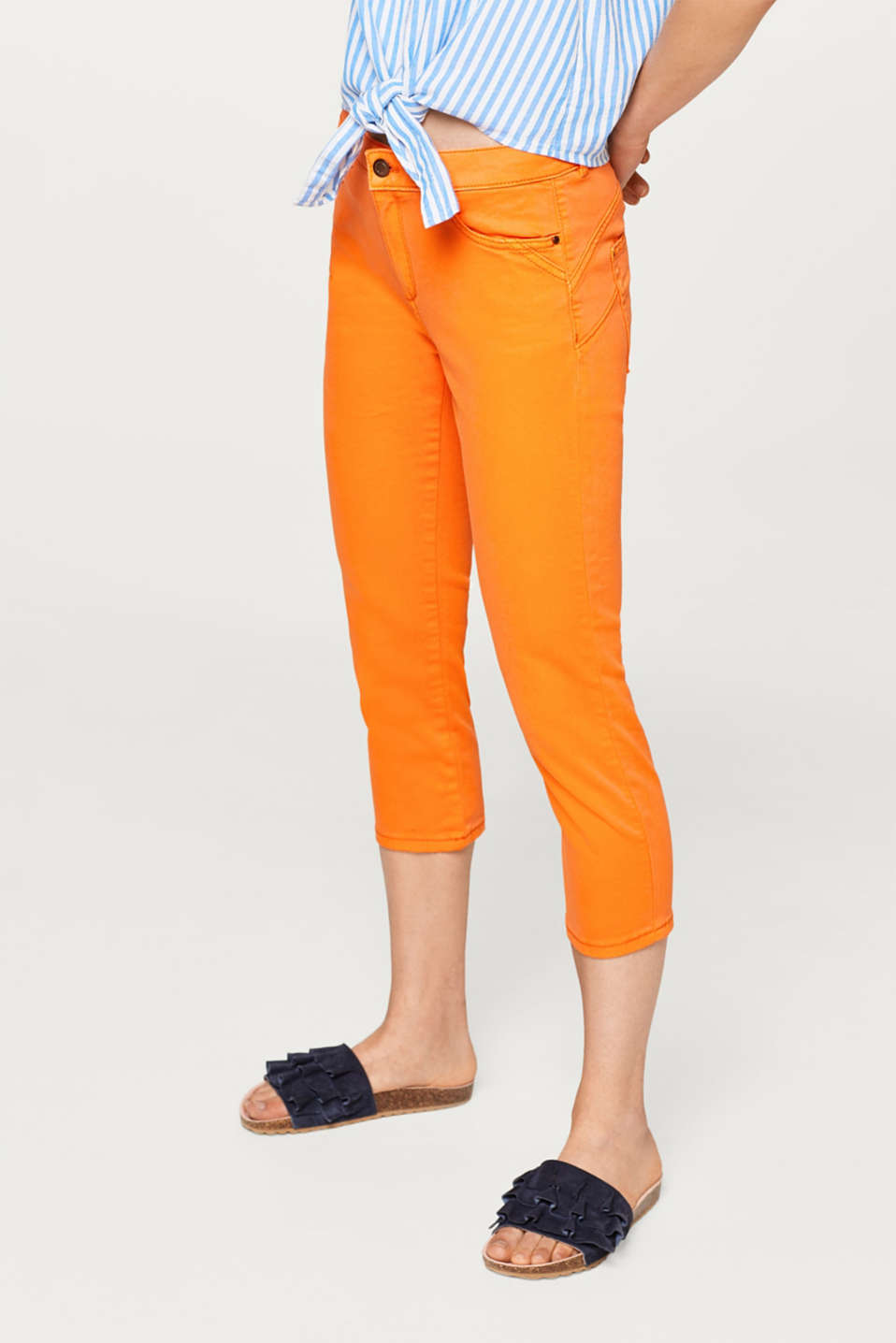edc - Stretch cotton Capri pants