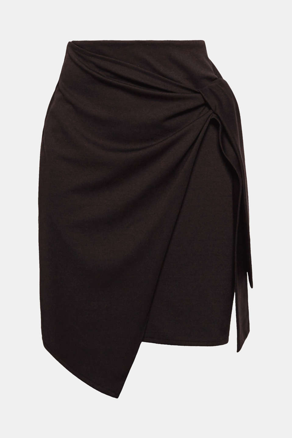 Can be worn for daytime and evening looks: This feminine jersey skirt is defined by its modern wrap-over look and smooth jersey fabric.