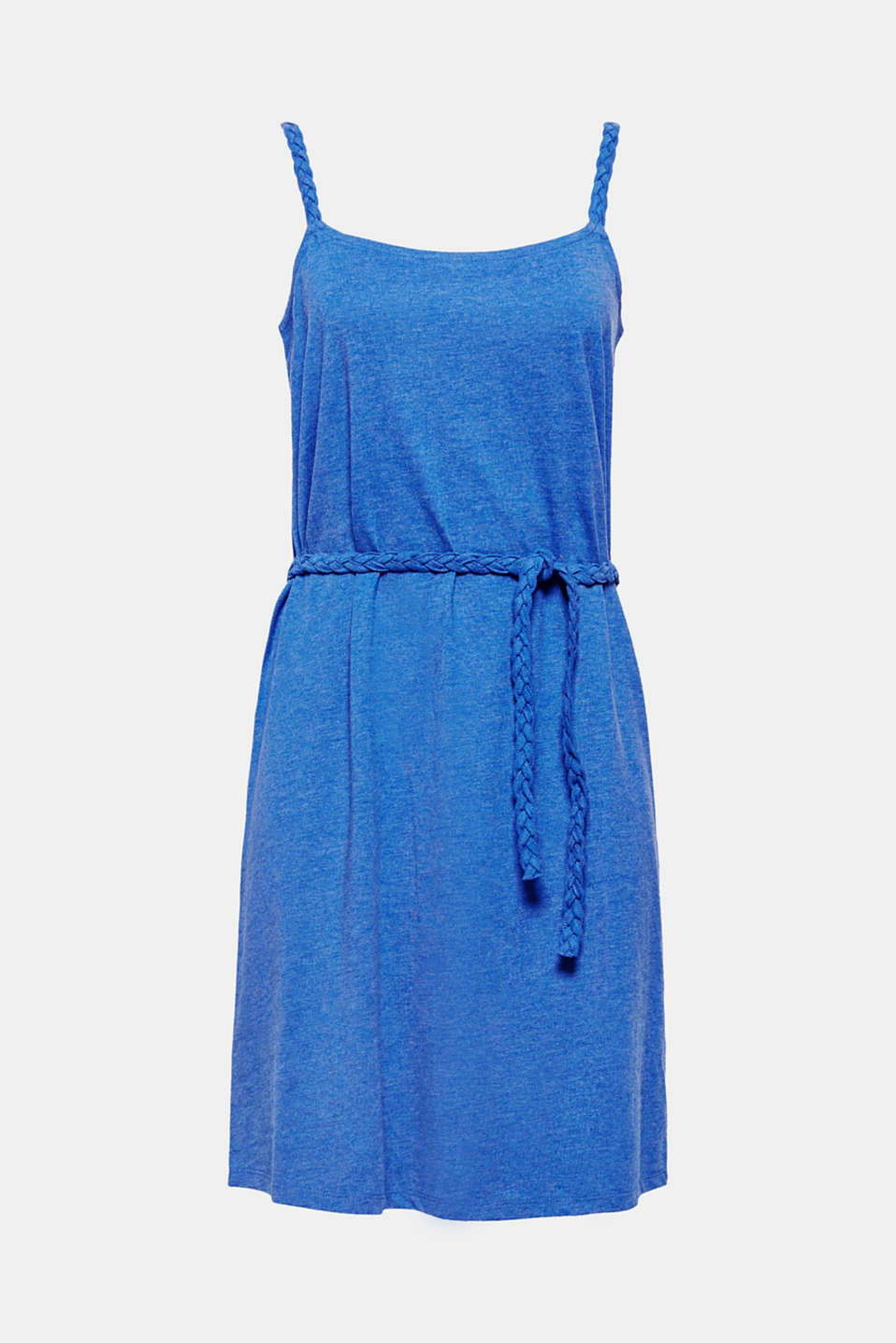 Your summery favourite piece! The lightweight jersey fabric, braided straps and belt in a braided look give this summer dress a smart kick.