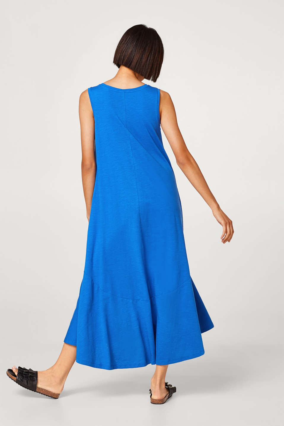 Slub jersey maxi dress in cotton