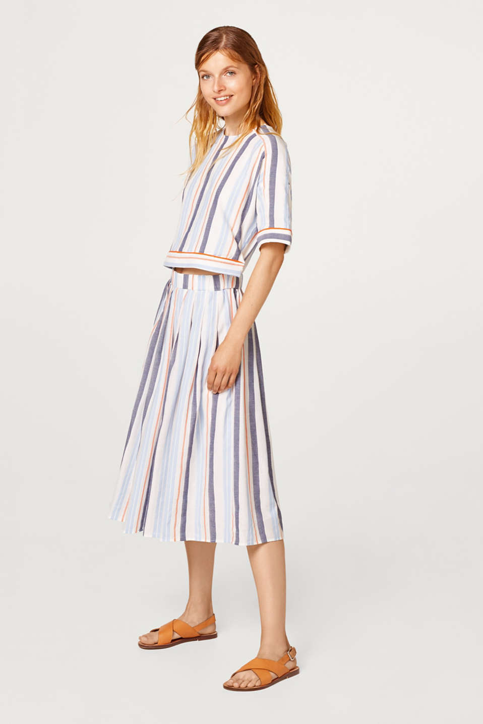 Dress in a two-piece look, 100% cotton