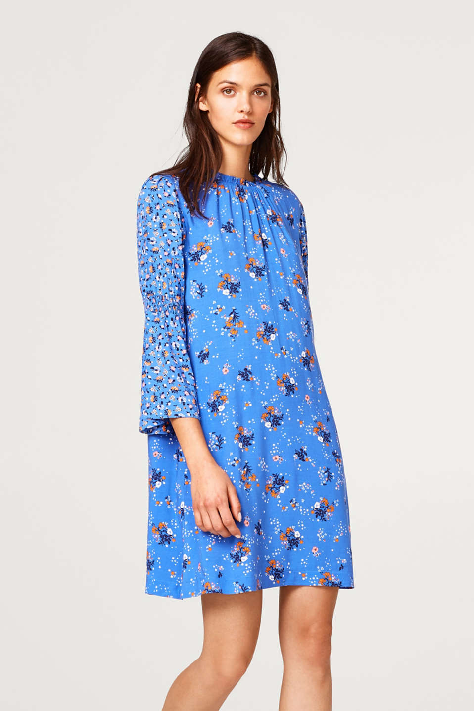 edc - Floral dress with trumpet sleeves