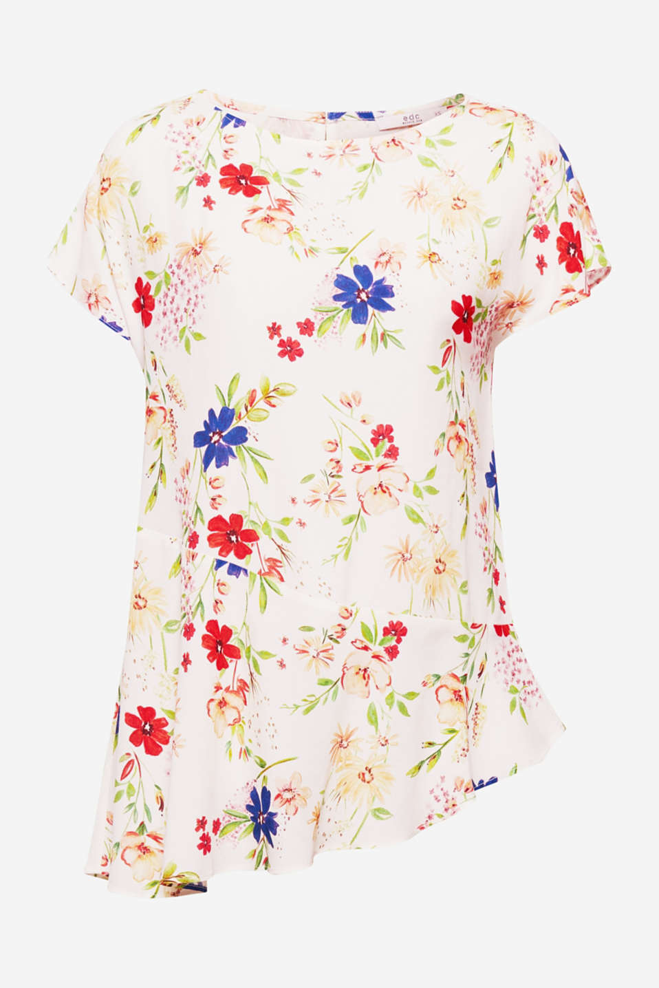 This delicate crêpe blouse, which will adorn you with a picturesque floral pattern, is a romantic piece for the summer.