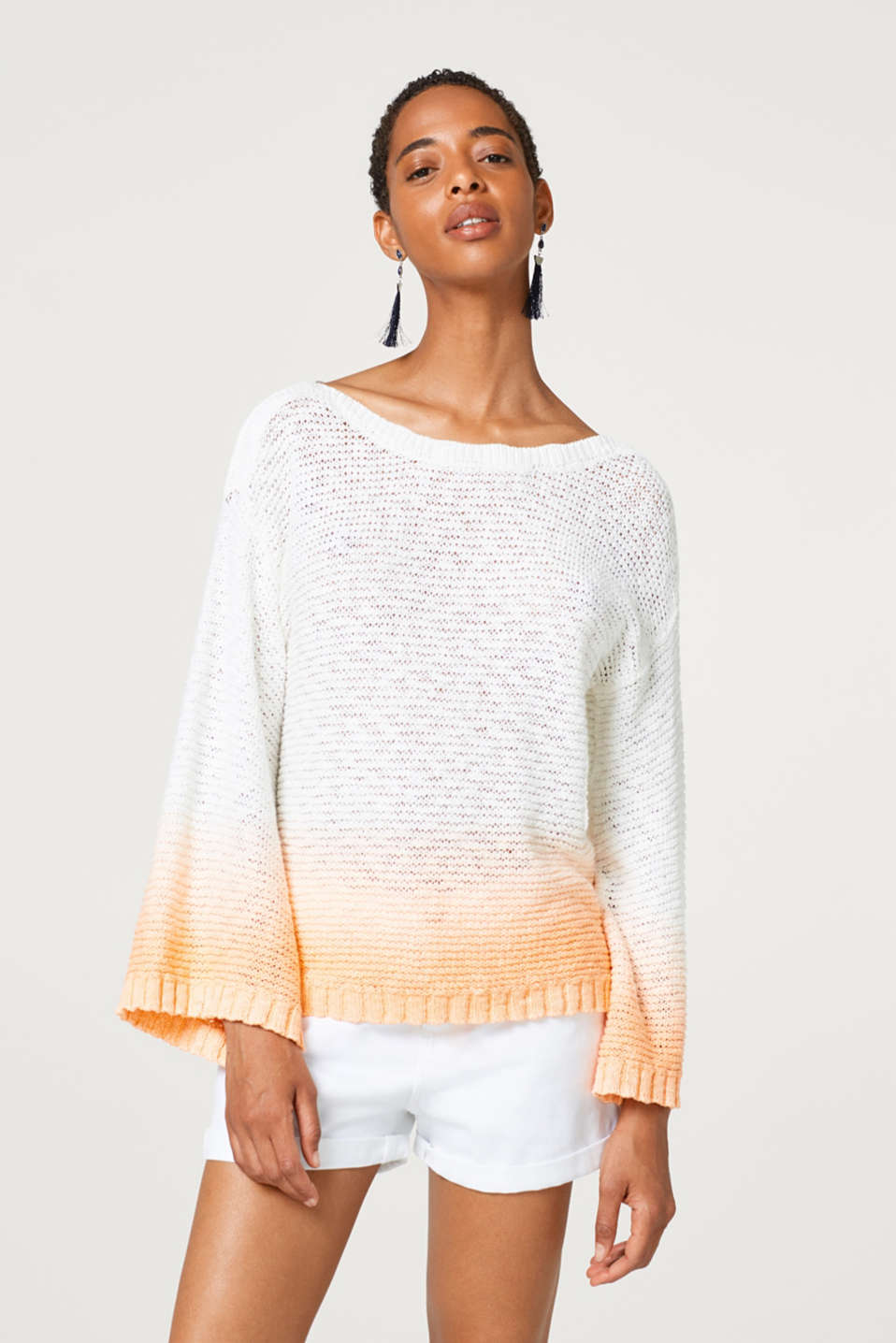 edc - Textured jumper with colour gradation, made of 100% cotton
